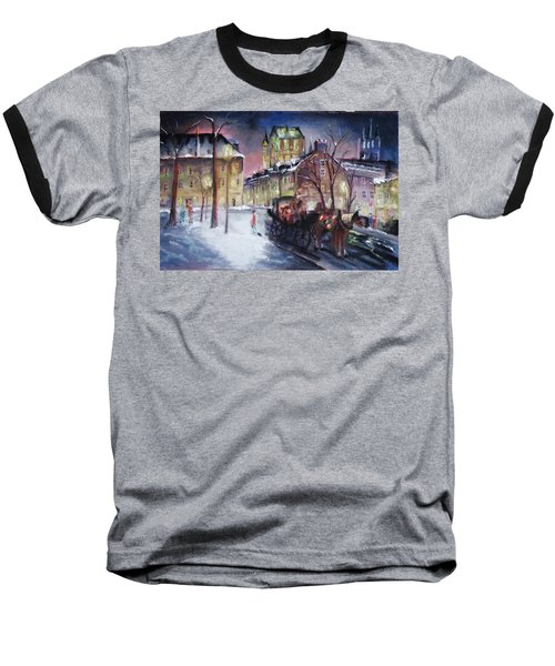 old Quebec Baseball T-Shirt by Peter Suhocke