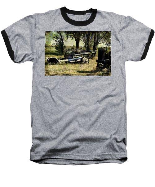 Old Rail Baseball T-Shirt by Deborah Nakano