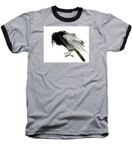 Old Raven Baseball T-Shirt by Suren Nersisyan