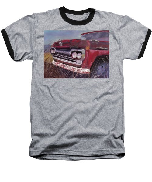Baseball T-Shirt featuring the painting Old Red by Arlene Crafton