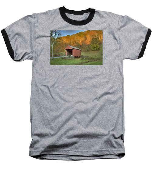 Old Red Or Walkersville Covered Bridge Baseball T-Shirt