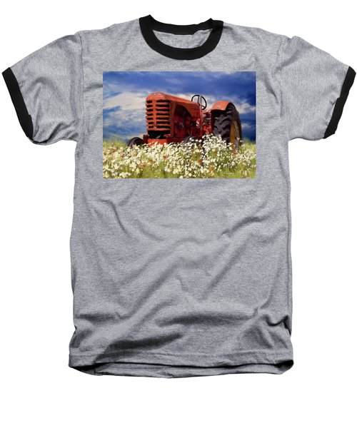 Old Red Tractor Baseball T-Shirt