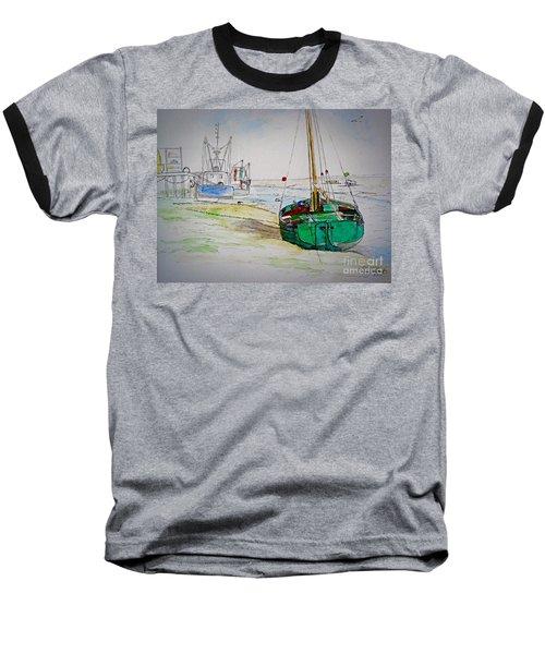 Old River Thames Fishing Boat Baseball T-Shirt