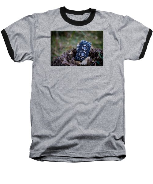 Baseball T-Shirt featuring the photograph Old Rollei by Keith Hawley