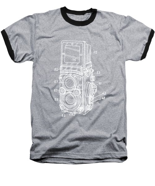 Old Rollie Vintage Camera White T-shirt Baseball T-Shirt