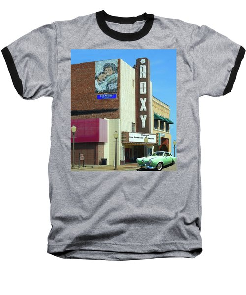 Old Roxy Theater In Muskogee, Oklahoma Baseball T-Shirt