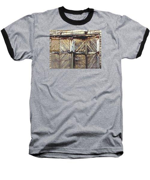 Old Rusted Barn Door Baseball T-Shirt