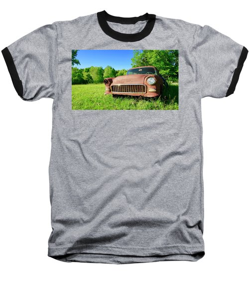 Old Rusty Car Baseball T-Shirt