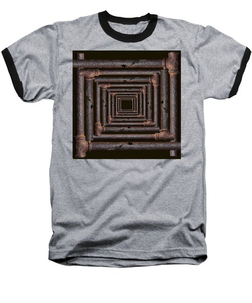 Old Rusty Pipes Baseball T-Shirt by Viktor Savchenko