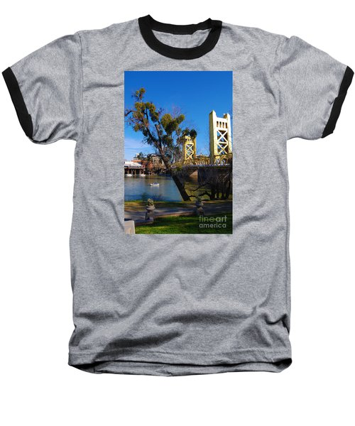 Old Sacramento Tower Bridge Baseball T-Shirt