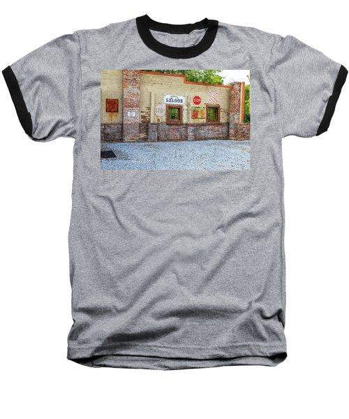 Old Saloon Wall Baseball T-Shirt
