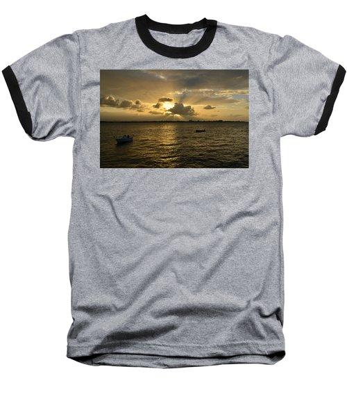 Old San Juan 3772 Baseball T-Shirt by Ricardo J Ruiz de Porras