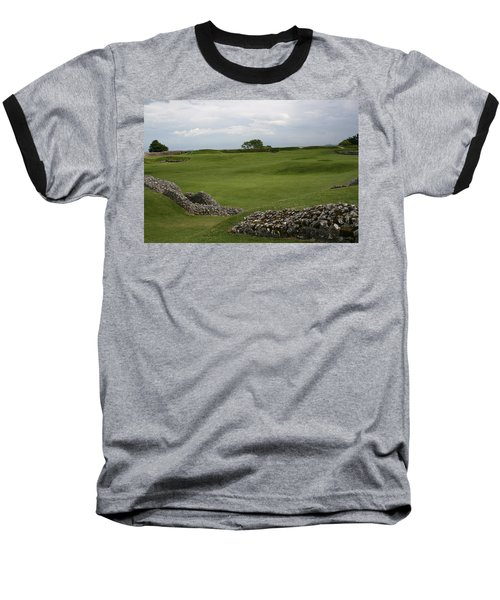 Baseball T-Shirt featuring the photograph Old Sarum by Mary Mikawoz