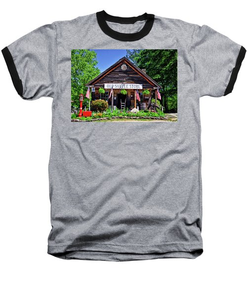 Old Sautee Store - Helen Ga 004 Baseball T-Shirt by George Bostian