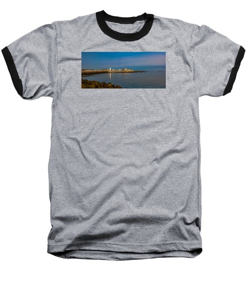 Old Scituate Light From The Jetty Baseball T-Shirt by Brian MacLean