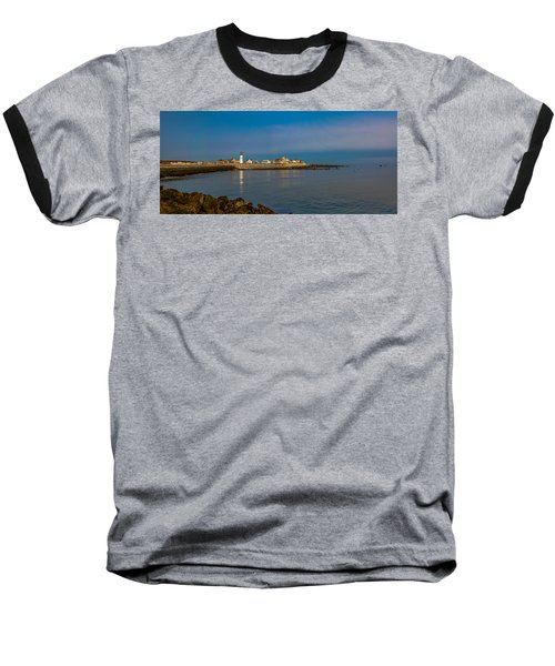 Old Scituate Light From The Jetty Baseball T-Shirt