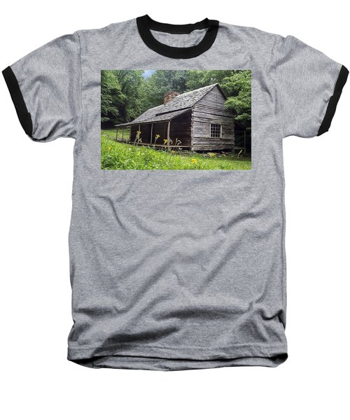 Old Settlers Cabin Smoky Mountains National Park Baseball T-Shirt