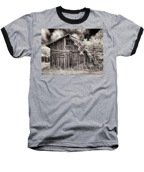 Old Shed In Sepia Baseball T-Shirt by Greg Nyquist