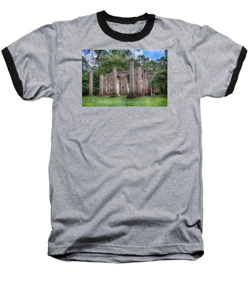 Baseball T-Shirt featuring the photograph Old Sheldon Church by Patricia Schaefer