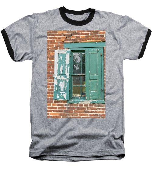 Old Shuttered Door Baseball T-Shirt
