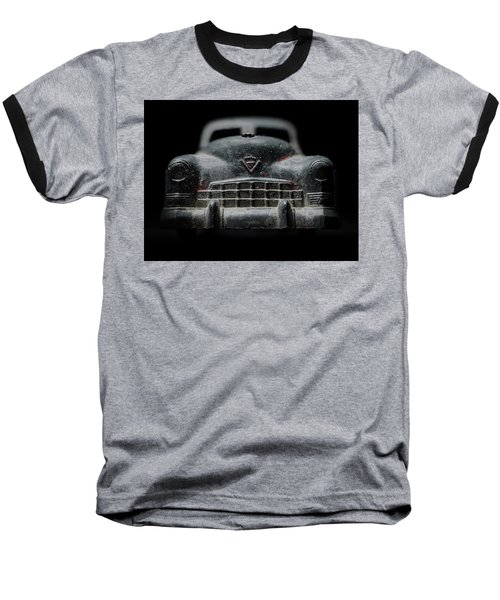 Old Silver Cadillac Toy Car With Specks Of Red Paint Baseball T-Shirt