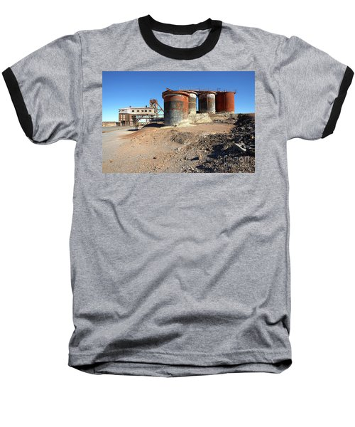 Old Silver Mine Broken Hill Baseball T-Shirt by Bill Robinson