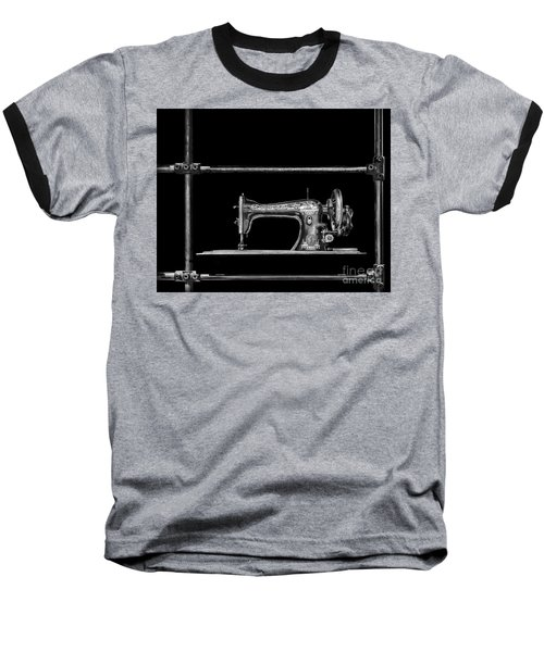 Old Singer Sewing Machine Baseball T-Shirt by Walt Foegelle