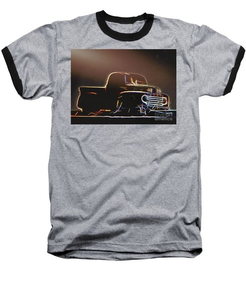 Old Sketched Pickup Baseball T-Shirt