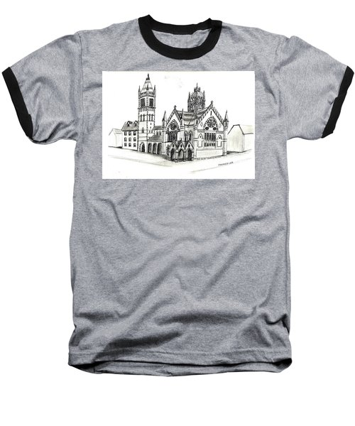 Old South Church - Bosotn Baseball T-Shirt by Paul Meinerth