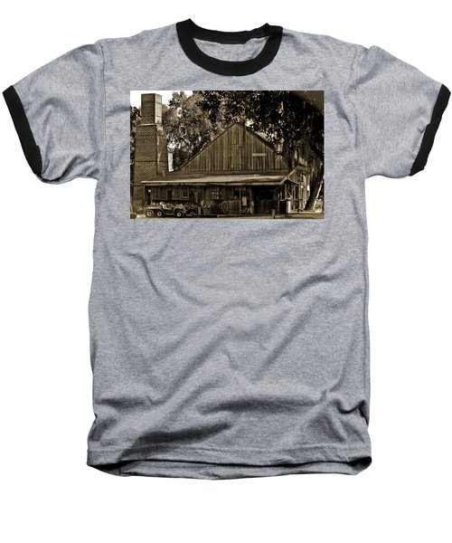 Baseball T-Shirt featuring the photograph Old Spanish Sugar Mill Sepia by DigiArt Diaries by Vicky B Fuller