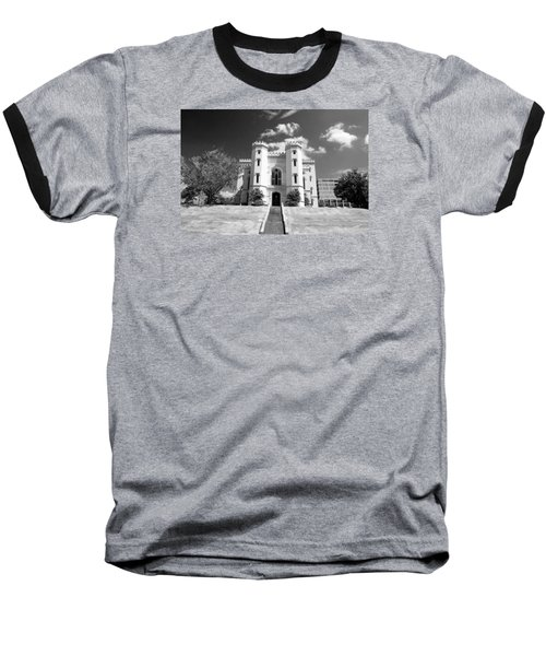 Old State Capital Baseball T-Shirt by Scott Pellegrin
