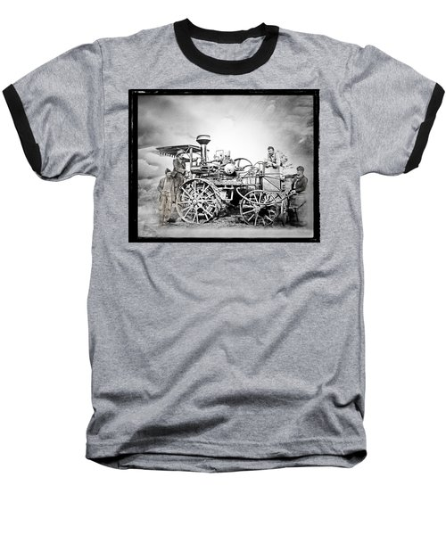 Old Steam Tractor Baseball T-Shirt