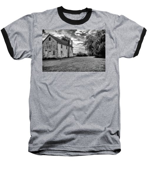 Old Stone House Black And White Baseball T-Shirt