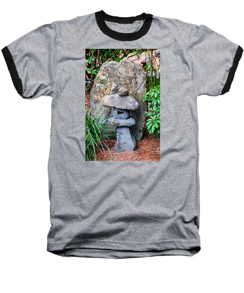 Old Stone Lantern Baseball T-Shirt by Louis Ferreira