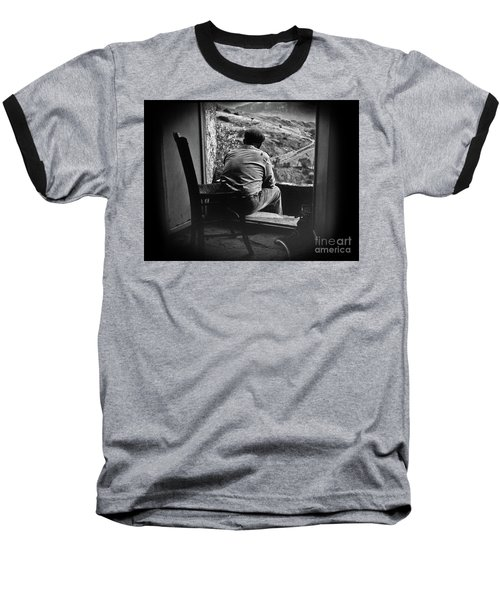 Baseball T-Shirt featuring the photograph Old Thinking by Bruno Spagnolo