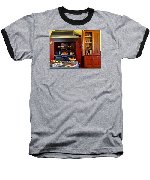 Old Time Kitchen Baseball T-Shirt by Mikki Cucuzzo