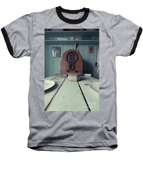 Baseball T-Shirt featuring the photograph Old Time Kitchen Table by Edward Fielding