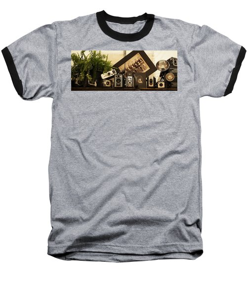 Old Time Photography Baseball T-Shirt by Cathy Donohoue