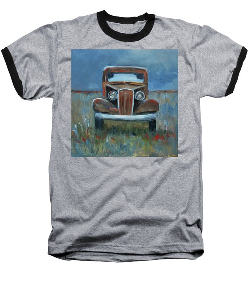 Baseball T-Shirt featuring the painting Old Timer by Billie Colson