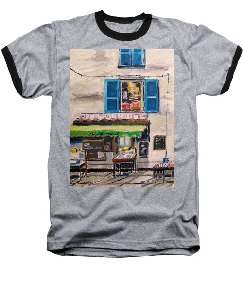 Old Town Cafe Baseball T-Shirt by John Williams