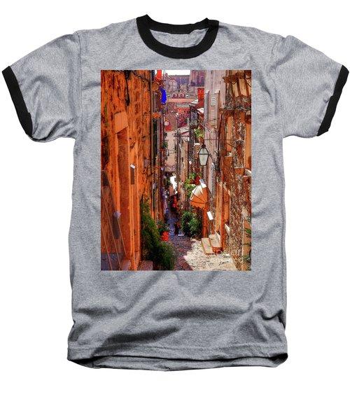 Old Town Dubrovniks Inner Passages Baseball T-Shirt
