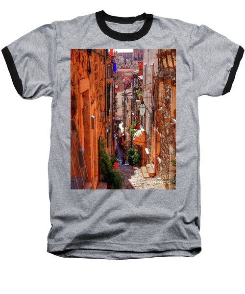 Old Town Dubrovniks Inner Passages Baseball T-Shirt