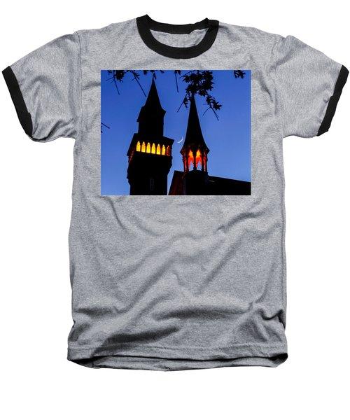 Old Town Hall Crescent Moon Baseball T-Shirt