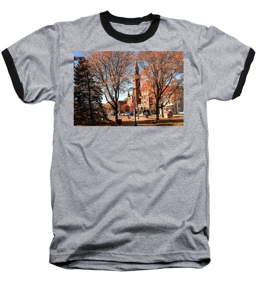 Old Town Hall In The Fall Baseball T-Shirt