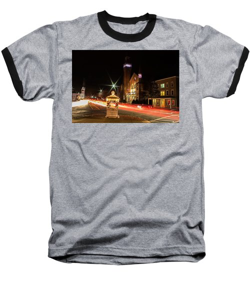 Old Town Hall Light Trails Baseball T-Shirt