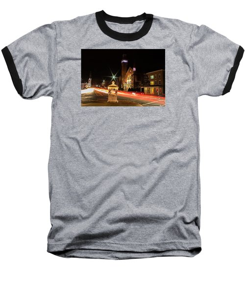 Old Town Hall Light Trails Baseball T-Shirt