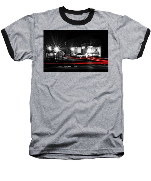 Old Town Helena At Night Baseball T-Shirt by Shelby  Young