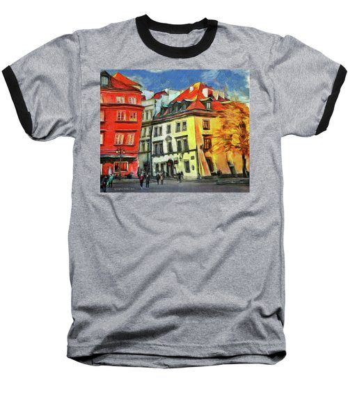 Old Town In Warsaw # 27 Baseball T-Shirt