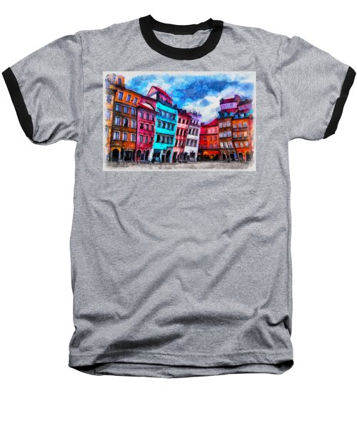 Old Town In Warsaw #11 Baseball T-Shirt