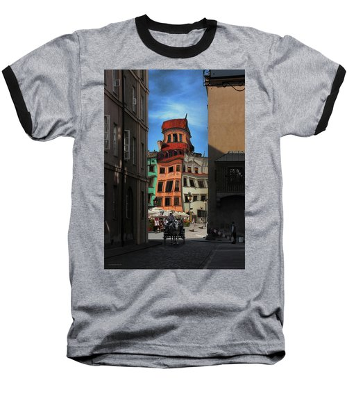 Old Town In Warsaw #14 Baseball T-Shirt